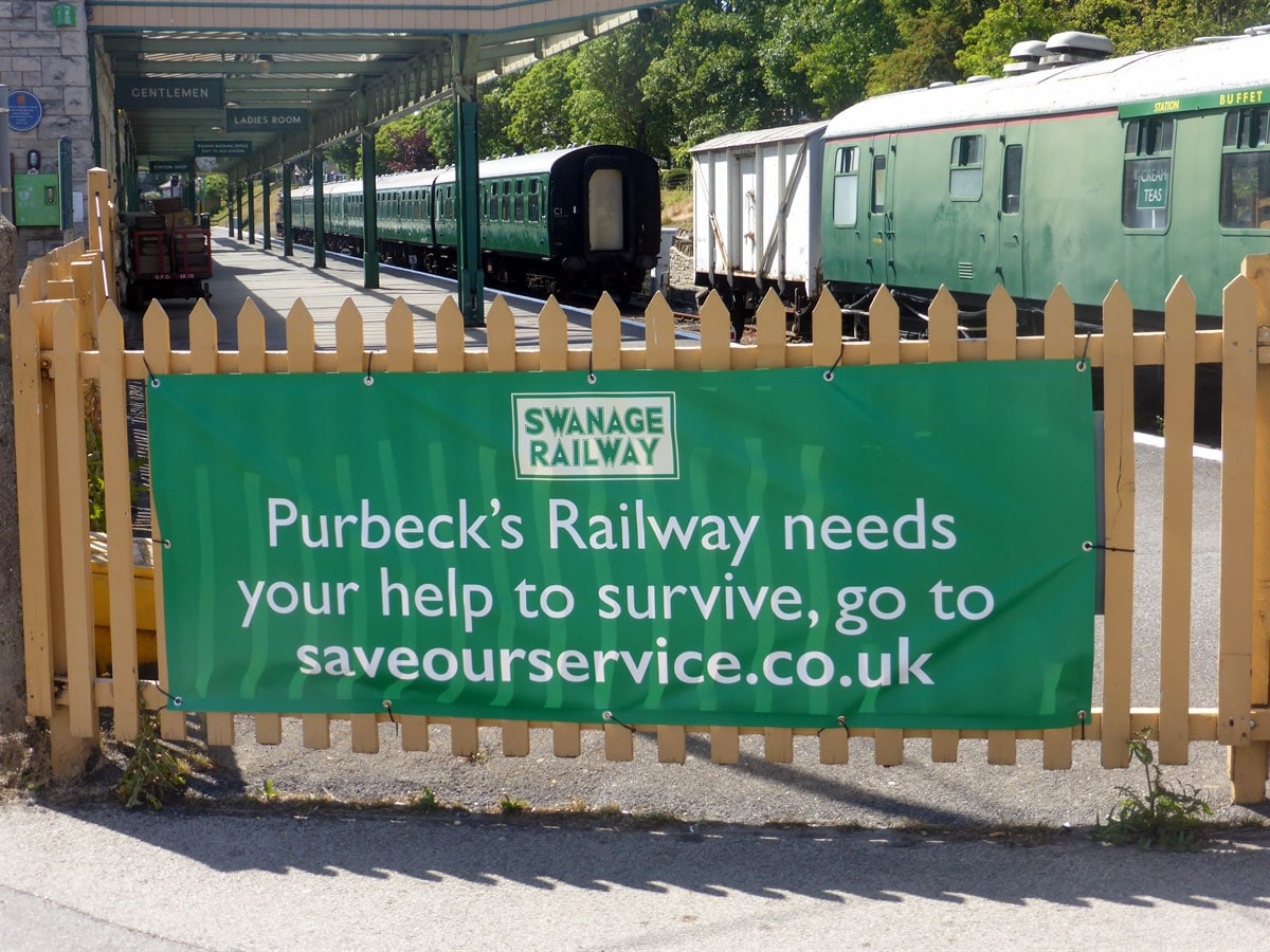 Banner Swanage Railway Vinyl Banner