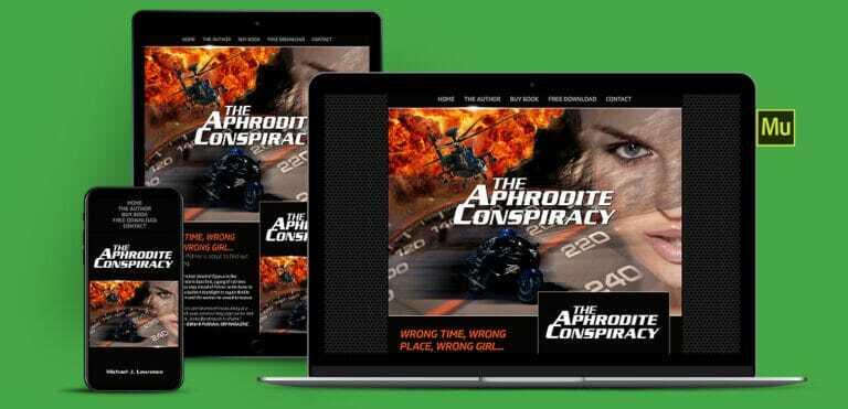 Authors Adobe Muse Website Design