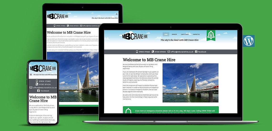Crane Hire Company WordPress Website Design