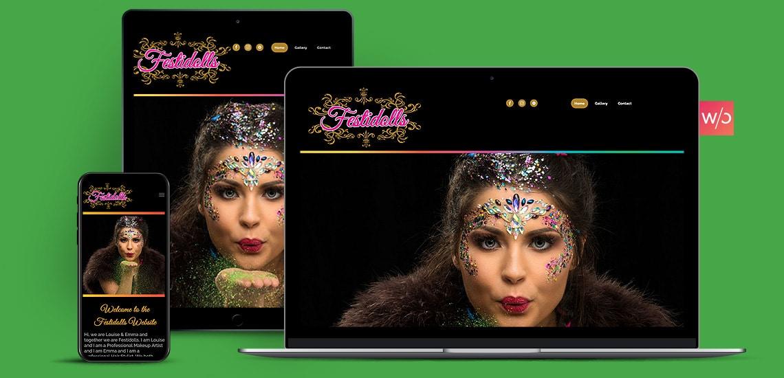 Festival Glitter Without Code Website Design