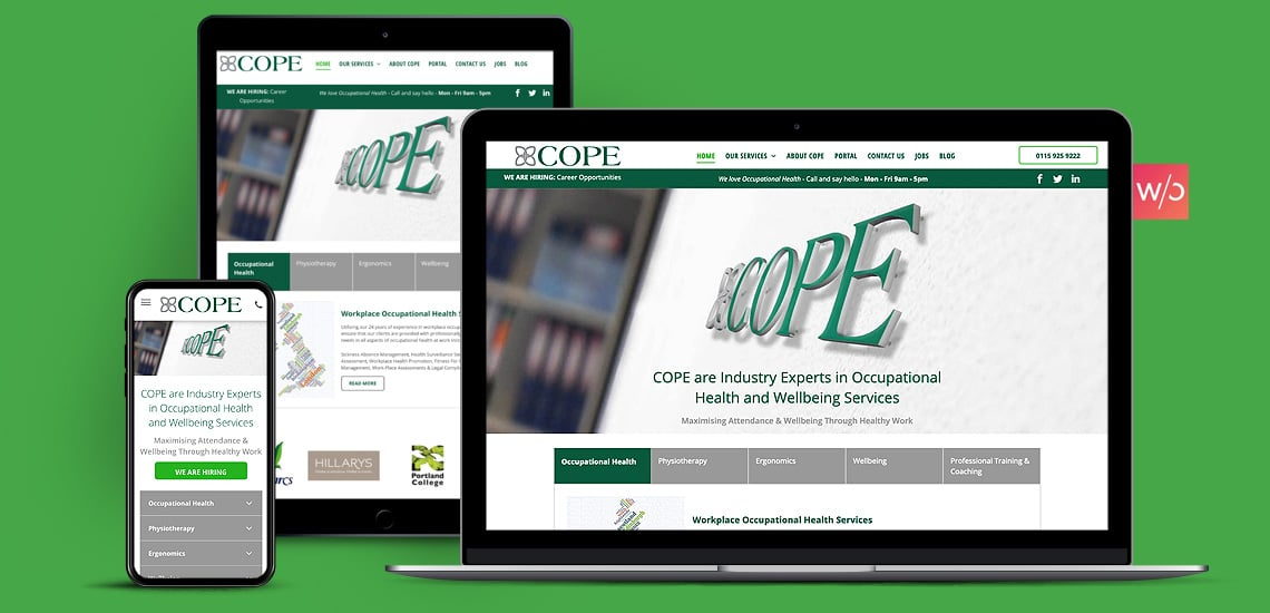 Occupational Health Without Code Website Design