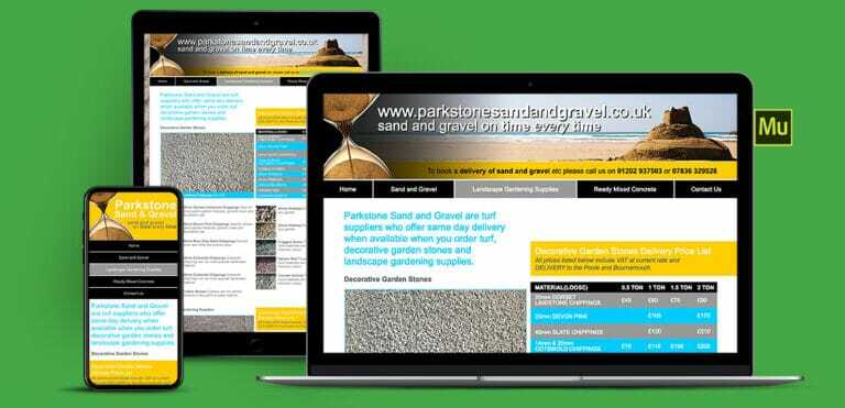 Sand And Gravel Delivery Adobe Muse Website Design
