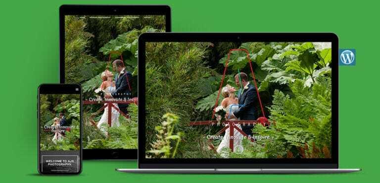 Wedding Photographers WordPress Website Design