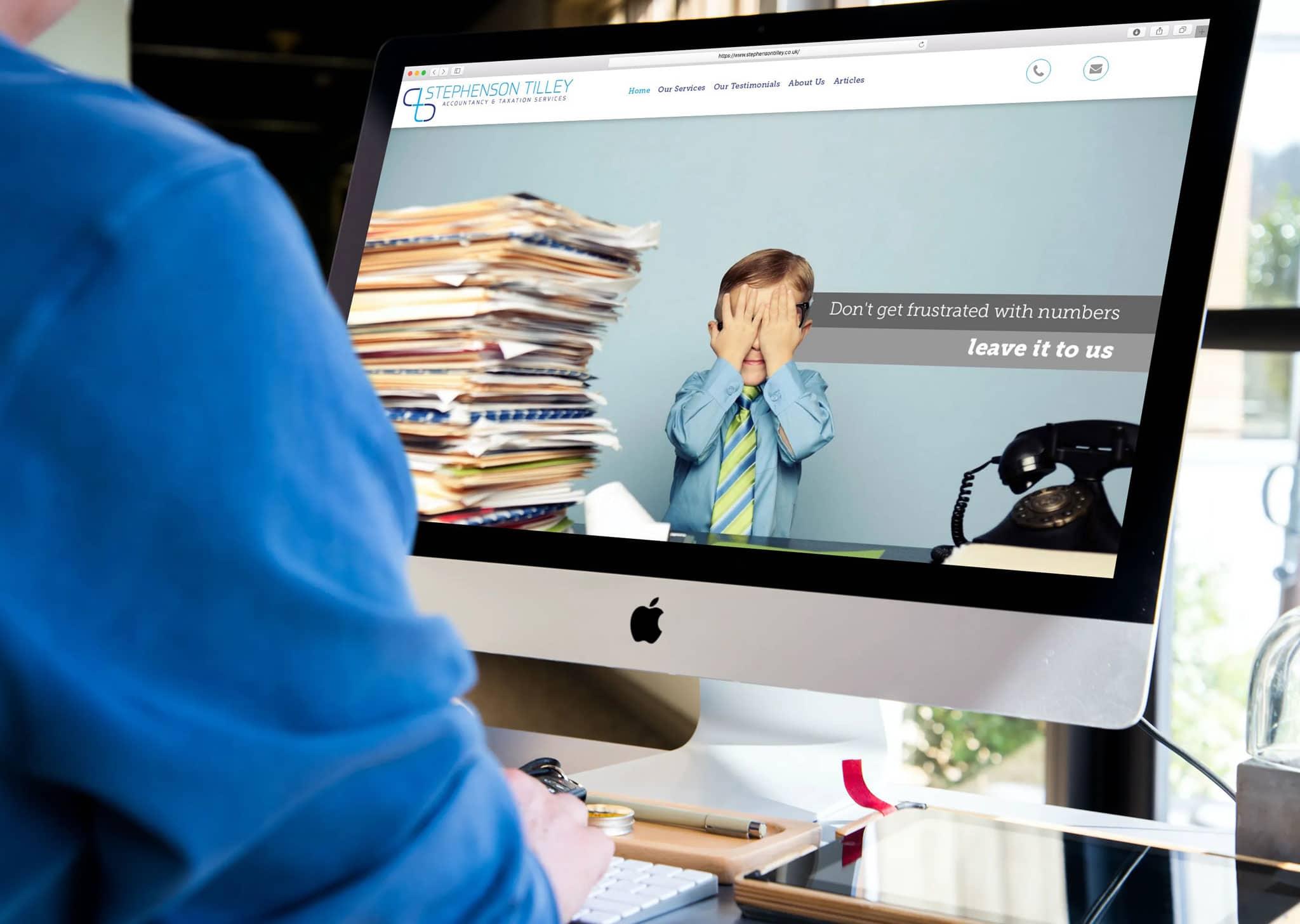 Accountants Website Design Banner