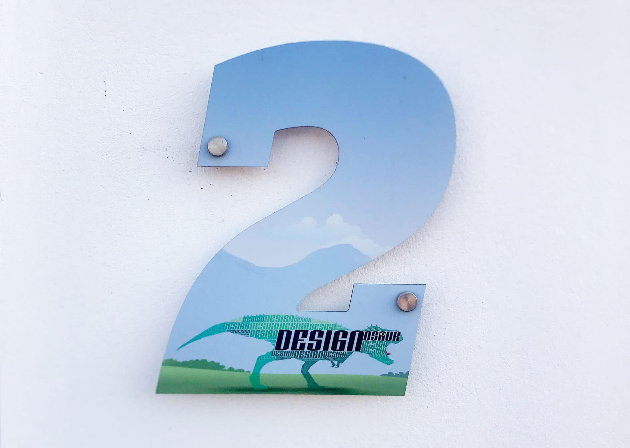 Dual Purpose House Number Design And Print