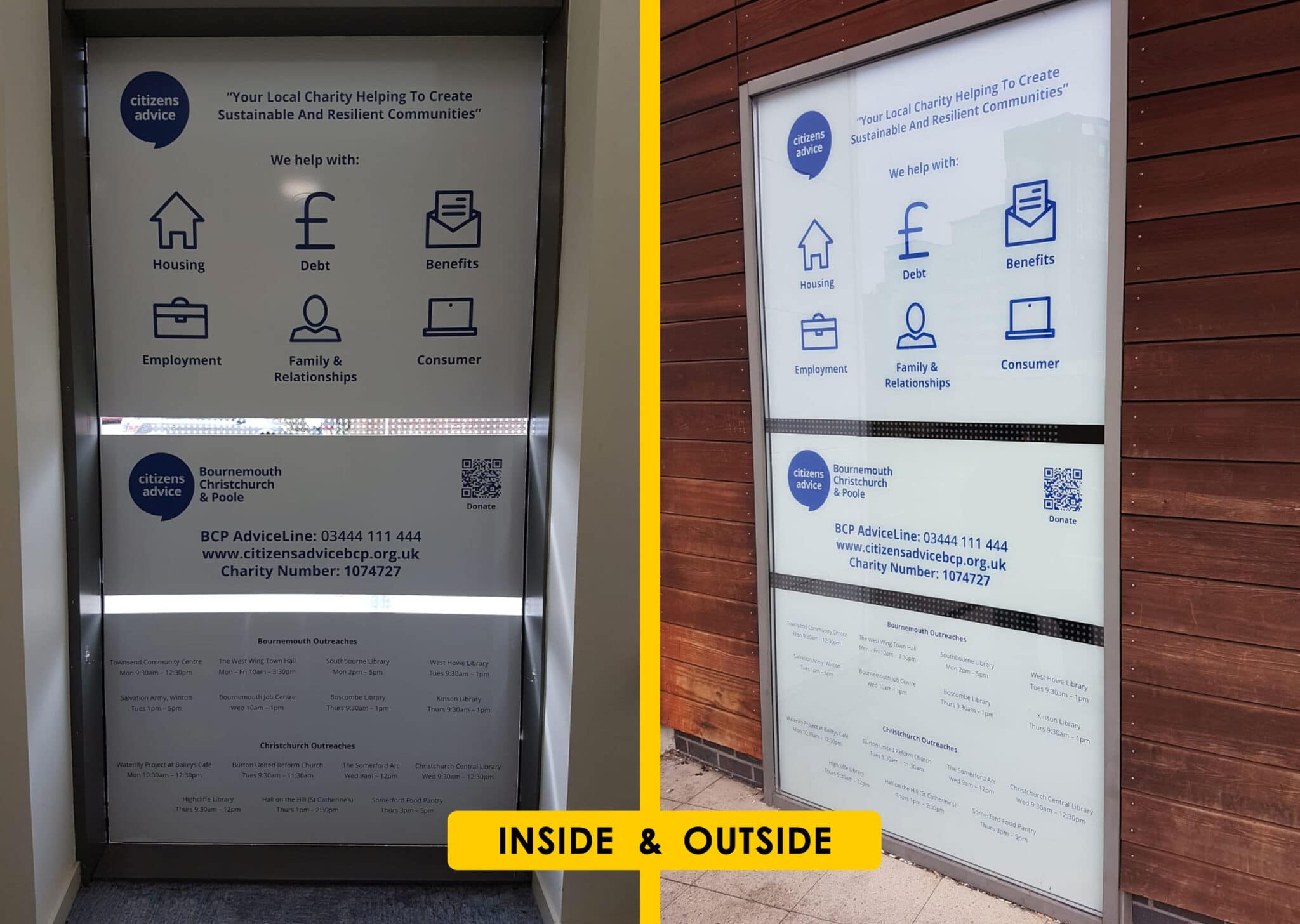 Internal And External Window Graphics Design Print And Installation