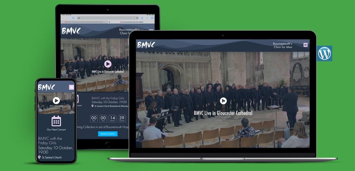 Designosaur Website Design Portfolio Bournemouth Male Voice Choir