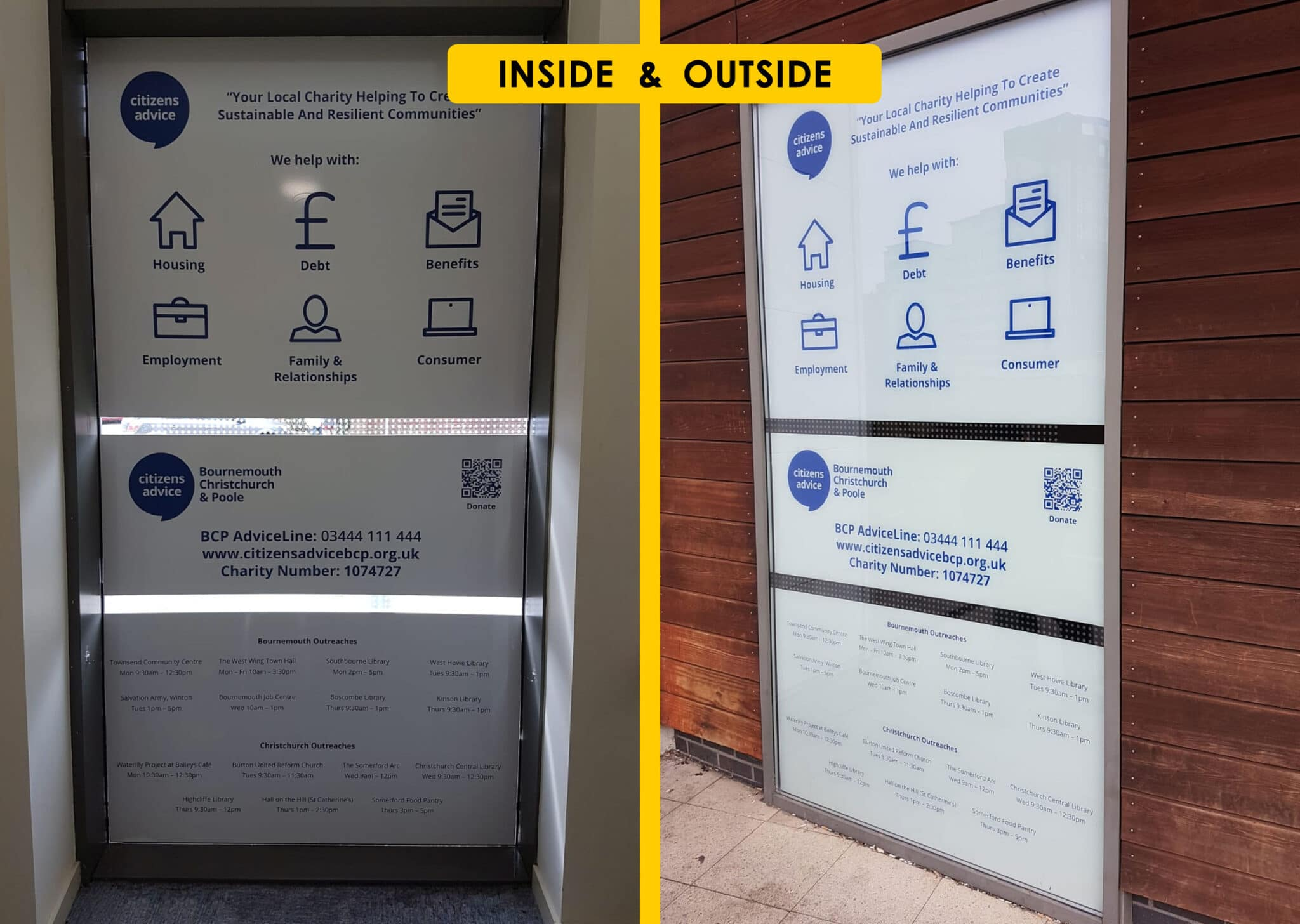 Internal And External Window Graphics Design Print And Installation V3