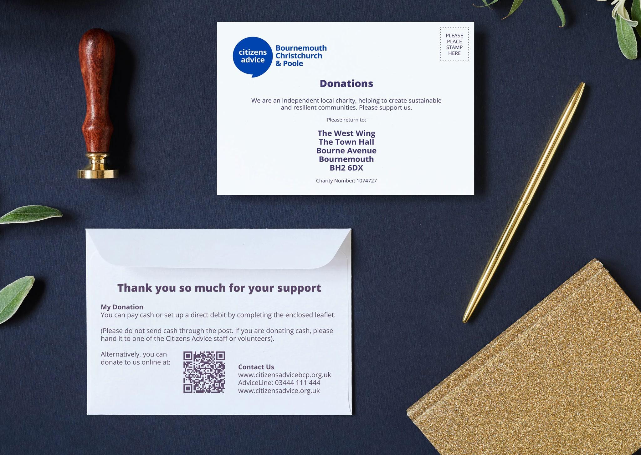 A Z Design And Print Services Donation Envelopes
