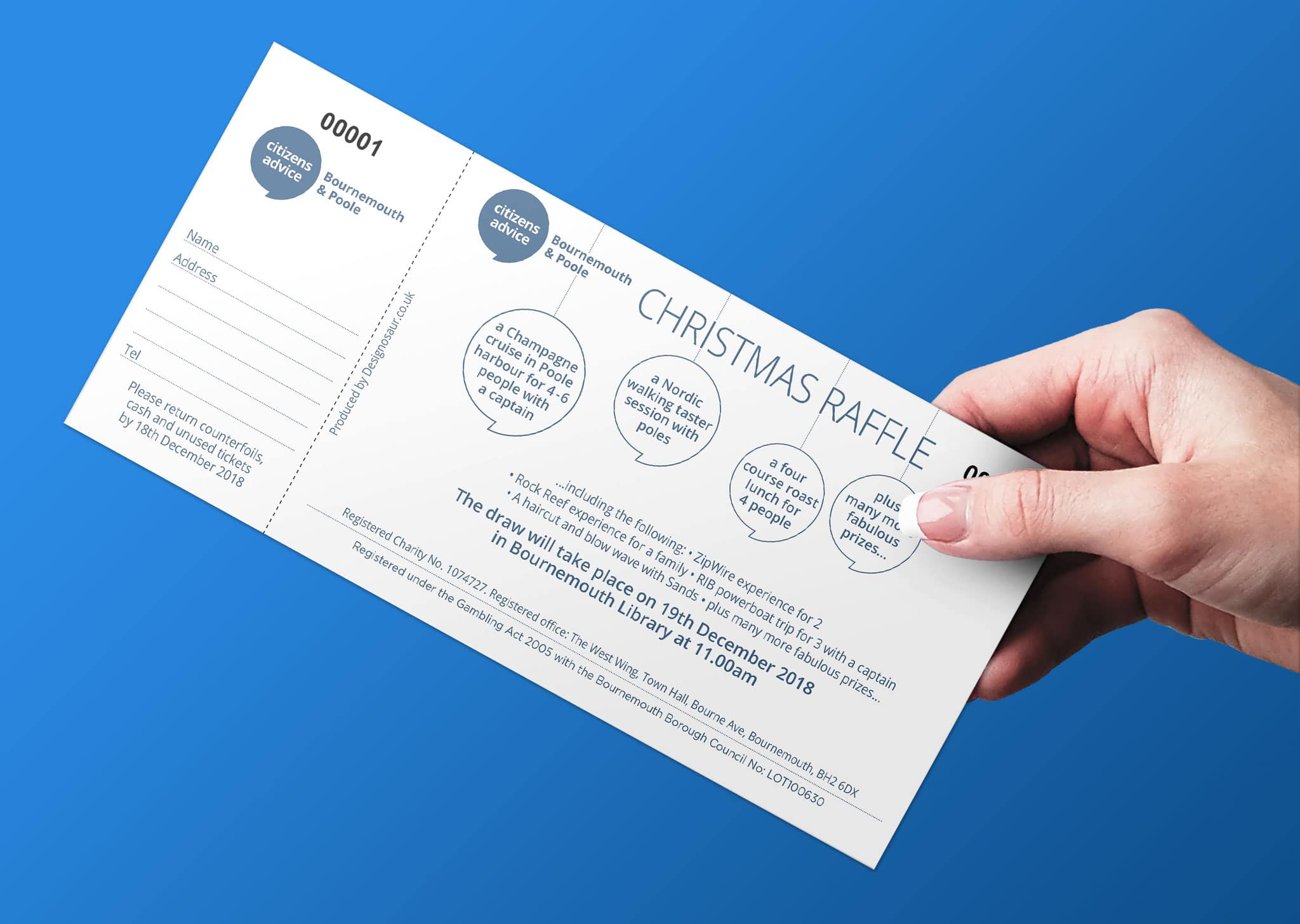 A Z Design And Print Services Raffle Ticket Printing
