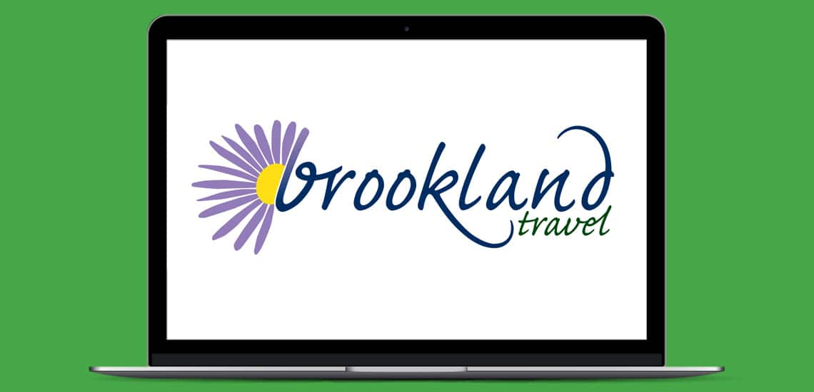 Designosaur Slim Laptop Portfolio Brookland Travel Logo Design