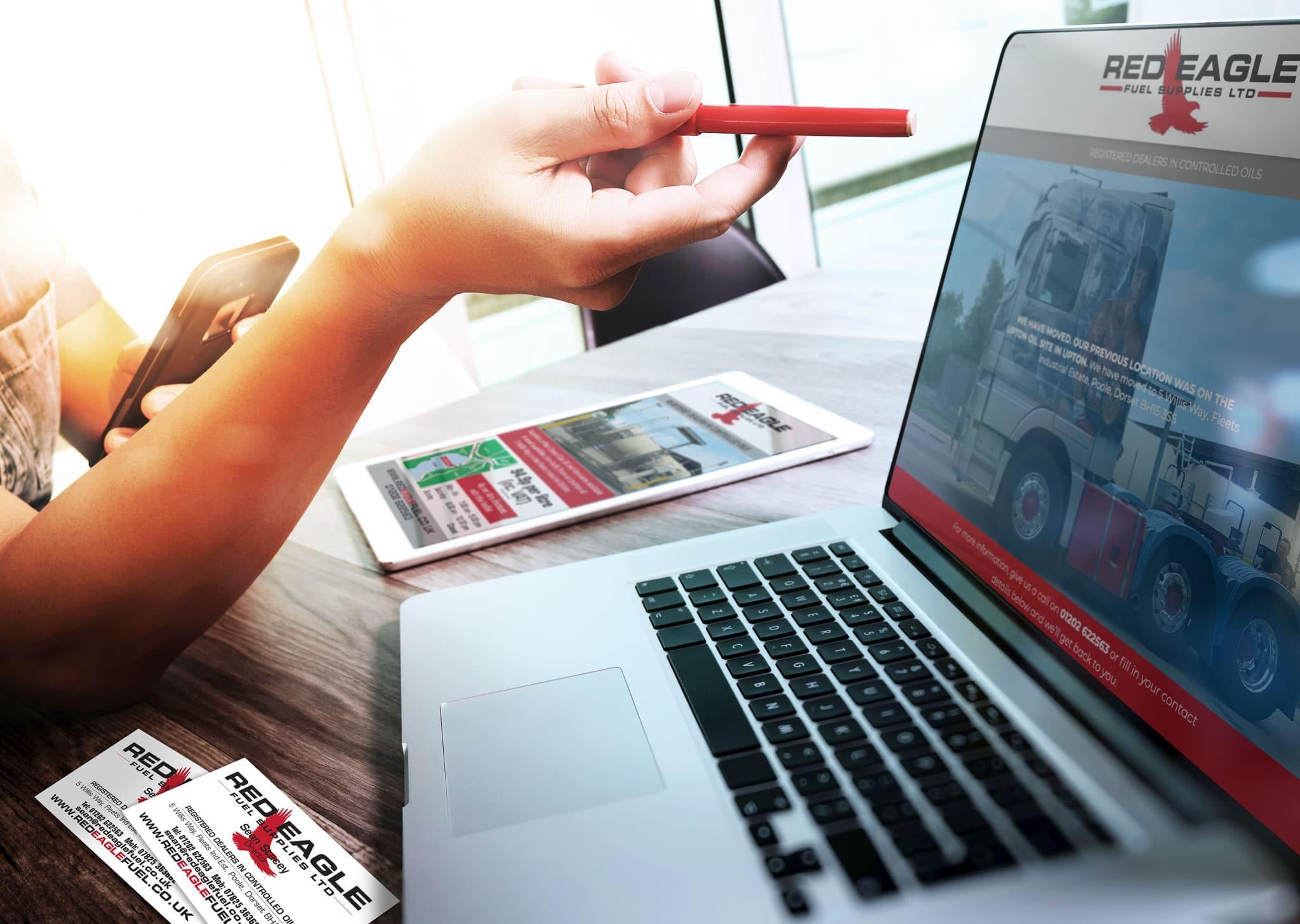 Designosaur Website Business Start Up Banner Red Eagle 2048 1456px